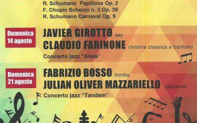 La tromba di Fabrizio Bosso, il sax argentino di Javier Girotto e il pianoforte di Massimo Giuseppe Bianchi protagonisti a Musica a Rima 2016